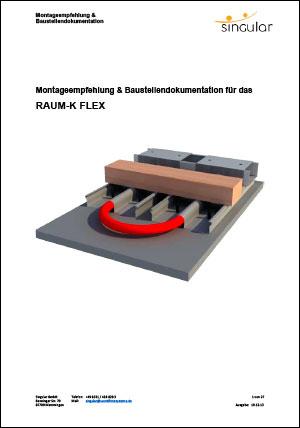 Montageempfehlung für das Raum-K Flex Profil
